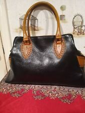 FENDI DU JOUR STAR VANTAGE WITH BLACK WITH BROWN COLOR LEATHER HANDBAG. MADE IN