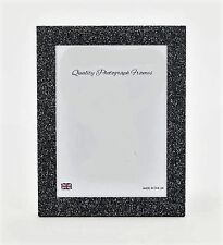 Glittery/Sparkly Finish BLACK/SILVER Photo/Picture Frame - Various sizes