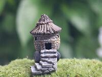 Miniature Micro World Landscape Resin House Cottage Bonsai Ornament Fairy Garden