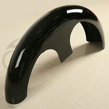 "Gloss Black Custom 30"" Wrap Around Front Fender For Harley Bagger Touring Glide"
