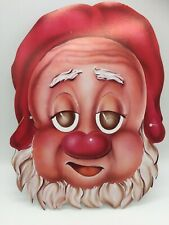 Vintage Halloween Mask Paper Card Dwarf Gnome Elf Scary Creepy Cartoon Art