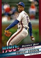 2020 Topps Decades' Best Chrome Red #DBC-63 Dwight Gooden 3/10 New York Mets