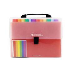 13 Pockets Plastic Expanding Accordion, Letter Holder, A4 File Organizer K3K7