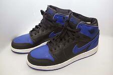 Nike Air Jordan Retro 1 size Y 6 2001 BLACK ROYAL BLUE HIGH OG authentic