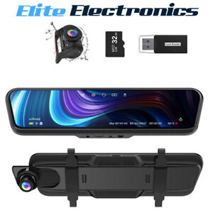 "Thieye CarView 3 Mirror Dash Cam 2.5K 1440P 32GB 10"" IPS Touch Screen 32GB"