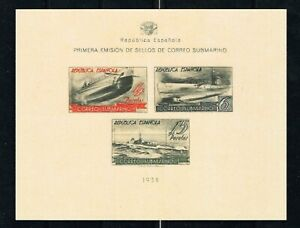 REPRINT   Edifil 781s *  (Cat. €4100)  WITHOUT TEETH  SUBMARINE MAIL SPAIN
