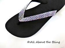 239bb5a228ab Havaianas flip flops with 450 Swarovski Crystals Rhinestone AB 4-ROW BRIDE  BLING