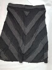 Capture Size 20 Textured Skirt Black Grey Striped