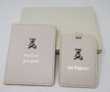 Babys My First Passport Holder Cover Luggage Tag Gift Set Baby Shower Present