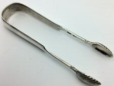 Scottish Provincial Silver tongs Perth c1825 - marked for Charles Murray
