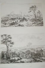 BATAILLE CASTIGLIONE MANTOUE SERRURIER GRAVURE 1838 VERSAILLES R1297 IN FOLIO