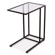 Sofa End Coffee Side Table with Glass Top Living Room Home Furniture Simple Hot