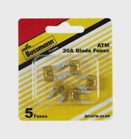 5pk Bussmann Buss ATM 20A BLADE FUSE BP/ATM-20-RP 20 Amp Mini Automotive Car New