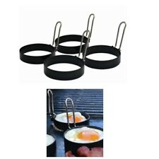 1 x 4 Pack BBQ Buddy® EGG COOKING RINGS with Foldable Handles - 75mm diameter