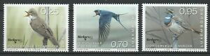 Luxembourg 2018 Birds 3 MNH Stamps