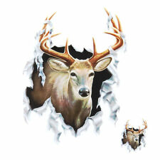"""Lethal Threat Deer Decal Sticker Car SUV Wall Decor 6"""" x 8"""" Pack of 2 US SELLER"""