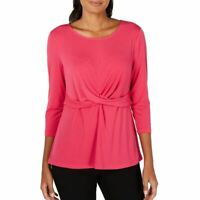 ALFANI NEW Women's Cross-twist Jersey Blouse Shirt Top TEDO