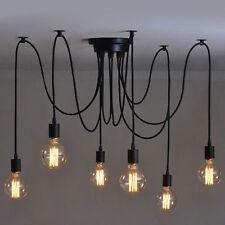 Vintage 6 Heads Industrial Ceiling Edison Lamp Light Chandelier Pendant Lighting
