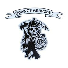 More details for sons of anarchy - logo and upper rocker embroidered patch/badge