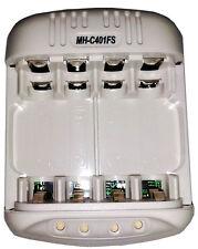 Cargador de pilas baterias recargables AA/AAA Powerex MH-C401FS+adaptador coche