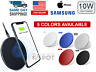 Qi Wireless Fast Charger Charging Dock Pad Mat For Samsung S10 iPhone 11 12 10W