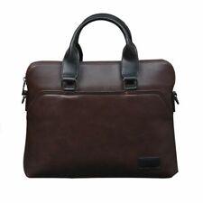 Vintage Men Briefcase Pu Leather Business Office Shoulder Crossbody Handbag Bags