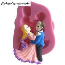 Wedding Cake Topper Donna e Uomo DANCING STAMPO IN SILICONE GHIACCIO SUGARCRAFT FIMO