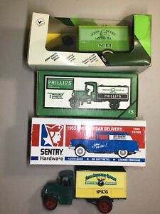1:24 Die Cast Truck Banks Lot of 4 John Deere Sentry Hardware Phillips Gas