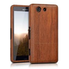 kwmobile Holz Schutz Hülle für Sony Xperia Z3 Compact Rosenholz Natur Braun