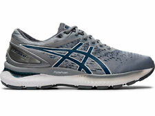 Asics GEL NIMBUS 22 KNIT Mens Piedmont Grey Mako Blue Running Shoes size 9 NEW