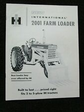 Original 1960s Brochure For International Harvester 2001 Farm Tractor Loaders