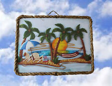 Beach Ocean 18 Palm Tree Island Sea Beach Decor Prints Plaques lalarry Ventage