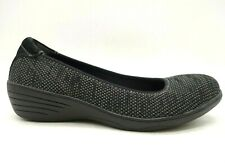 Skechers Stretch Fit Black Woven Knit Slip On Comfort Loafers Shoes Women's 9.5