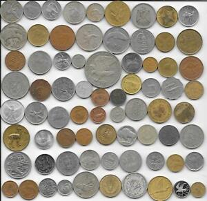 World Old Odd Coins Lot - 73 Diff. World Coins Type Set All Prominent Animals