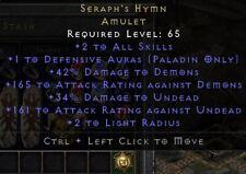Seraph's Hymn Amulet | Seraphims Psalm | Seraphs |Diablo 2 Resurrected D2R SC PC