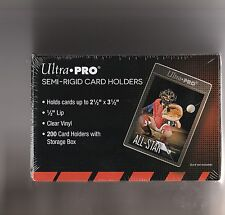 200 ULTRA-PRO SEMI-RIGID HOLDERS CARD HOLDERS - NEW!!!