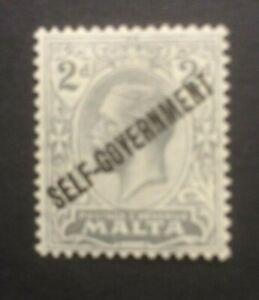 MALTA 1922 OPTD SG117 MH