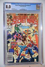 Marvel Super Heroes Secret Wars 5 CGC Graded 8.0 White Pages X-Men Spider-Man