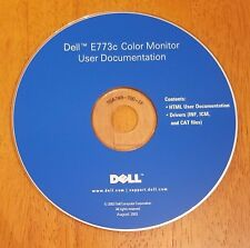 Dell E773c Color Monitor User Documentation Software Drivers INF ICM & CAT Files