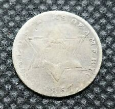 1857 Three Cent (Silver) | ABOUT GOOD | Nice Filler Type Coin!