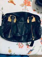 B. Makowsky Women's Black Leather Purse (Handbag) NWT (Large Size)