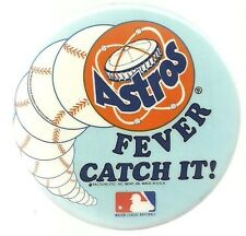 HOUSTON ASTROS FEVER CATCH IT BASEBALL PROMOTIONAL PIN BUTTON