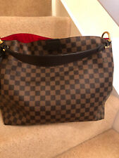 Louis Vuitton Gracefull MM Bag In DamierEbene Canvas With Leather Handle