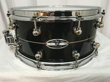 "Pearl Hybrid Exotic Kapur-Fiberglass 14"" Diameter X 6.5"" Deep Snare Drum/Nice"