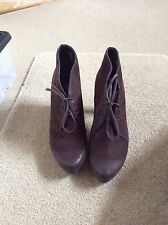 Ladies Paul Green Brown Ankle Shoe/Boots Size 4.5