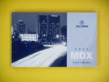 2005 acura mdx owners manual original.