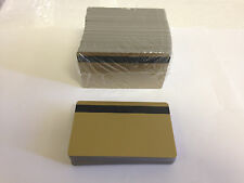 100 Gold Pvc Cards - HiCo Mag Stripe 2 Track - Cr80 .30 Mil for Id Printers