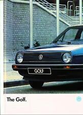 VW VOLKSWAGEN GOLF  SALES BROCHURE 1986