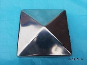 """80mm x 80mm ( 3.1"""") SQUARE STAINLESS STEEL PYRAMID POST CAP FENCE /RAILING/NEWEL"""