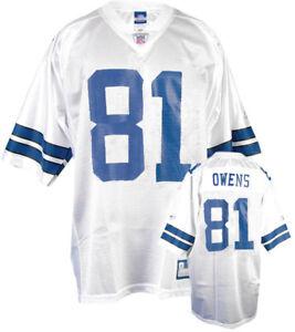 Dallas Cowboys Terrell Owens NFL THROWBACK Reebok Home White Jersey Medium New!